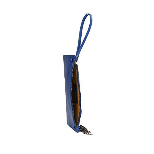 Chicca Borse Borsa a tracolla in pelle 28 x 18.5 x 2 100% Genuine Leather Blue