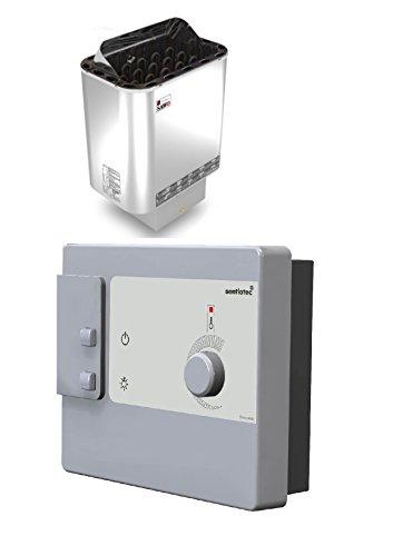 Saunaofen Nordex 6,0 kw mit externer Steuerung DC9 für 230V 1N~ oder 380V 3N~