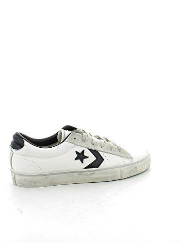 CONVERSE PRO LEATHER 156741C WHITE BLACK GREY Bianco