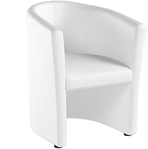 H&S Design Cocktailsessel Sessel Clubsessel Loungesessel Club Möbel Bürosessel Praxismöbel Weiss