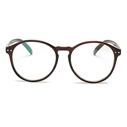 Frauen Clark Superman Kostüm Kent - YUNCAT Hornbrille Atzenbrille Nerd Brille Klar Brille Nerdbrille in verschiedenen Farben, Braun, Einheitsgröße