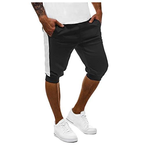 MEIbax Herren Cargo Hose Jogging Shorts Männer Casual Sports Jogging Elastic Running Taille Pants Hosen Freizeithose