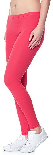 Ladeheid Damen Leggings Long LAMA02 Rosa21