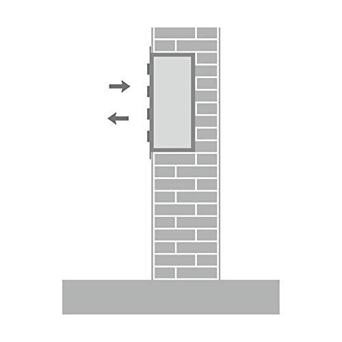 AL Briefkastensysteme, 1er Unterputzbriefkasten in Anthrazit Grau RAL 7016, Briefkastenanlage 1 Fach, Postkasten modern - 4