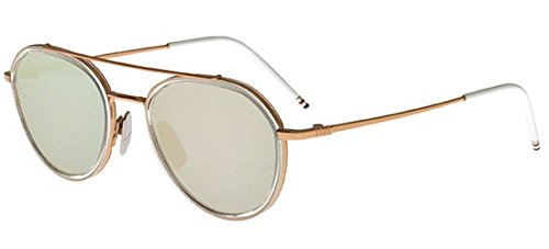 thom-browne-tb-801-rose-gold-clear-aviateur-metal-unisexe