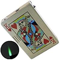 Windproof Cigarette Gas Lighter - Playing Cards K (King)