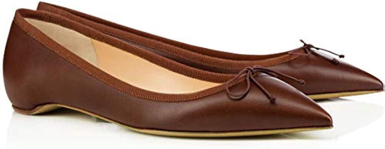 ZHAOYUNZHEN Scarpe Basse da Donna a Punta Arco Prua da da da Donna,A,45   Fashionable  c18552