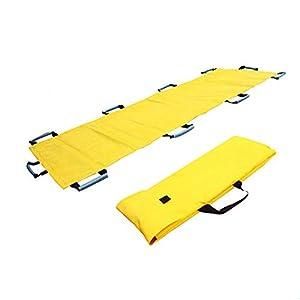 XIHAA Nylon Faltender Weicher Bahre, Notwehr-Weiche Bahre Für Krankenhaus, Klinik, Haus, Sportstätten, Krankenwagen-Gelb