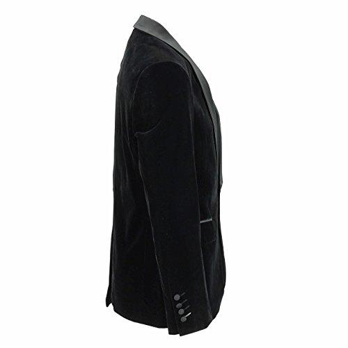 Uomo velluto marrone vintage 3tuta giacca gilet pantaloni venduto separatamente Blazer-Tux-Black