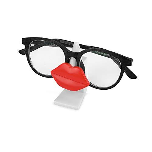 ZXYWW Muster Brillenhalter für Auto Sonnenblende, Auto Sonnenbrillen Stehen Autogläser Halter Brillen Clip Brillenetuis Autozubehör Auto,Red