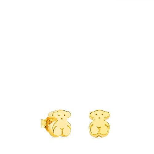 TOUS Pendientes de botón Mujer oro amarillo...