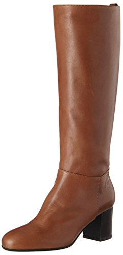 Womens Heels Stiefel (Marc O'Polo Damen High Heel Long Boot 70814178201110 Stiefel, Braun (Cognac), 38.5 EU)