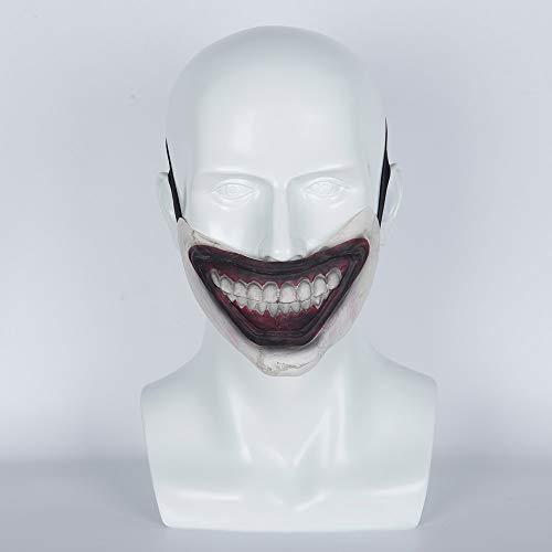 Clown Twisty Kostüm Dem Halloween - VAWAA 1pcs American Horror Story Twisty Der Clown Maske Schreckliche Maske Latex Halbes Gesicht Maske Cosplay Halloween Party Requisiten Maske