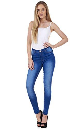 BHS Ladies Stretch Denim Look Womens Skinny Leggings Cotton Slim Jeggings