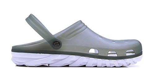 W&XY Chaussures de sandales pour hommes Trou antidérapant Épais fond plat semelle Sandale pour plage Piscine gelée en plastique chaussure cool 41