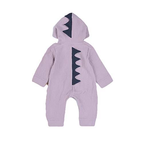 Snner Niedliche Baby-Junge Mädchen Tier Dinosaurier Lange Ärmel Hoodie Romper Baby-Kostüme Jumpsuit-80cm