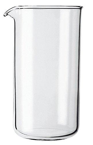 GROSCHE - Verre de Rechange pour Cafetière à Piston 8 tasses - Transparent - 1 L