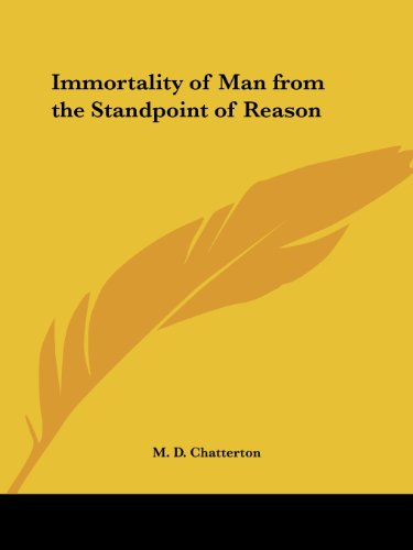 Immortality of Man from the Standpoint of Reason