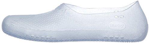 Fashy® Erwachsene Unisex Badeschuhe, Schwimmschuhe in 2 Farben erhältlich - Wassersport- TÜV geprüft und CE-Kennzeichnung - (Made In Germany) Weiß-Transparent