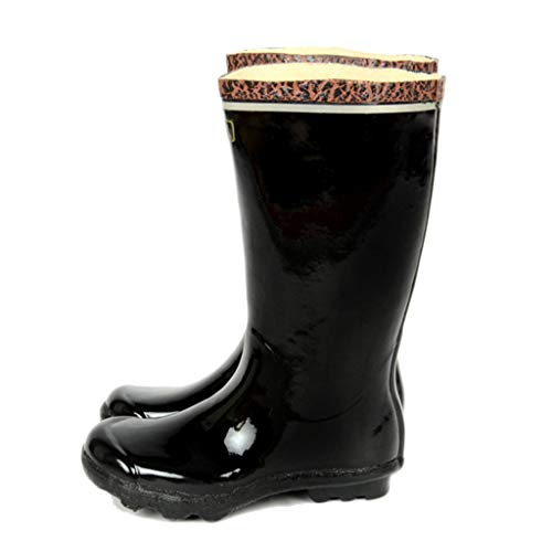 nihiug Rain boots wellies for Wet Weather Waterproof Rain Shoes rubber travelling Adult rain boots high rubber shoes reflective anti-skid shoes