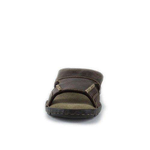 Red Tape Herren Pantolette Sandale Leder braun Braun