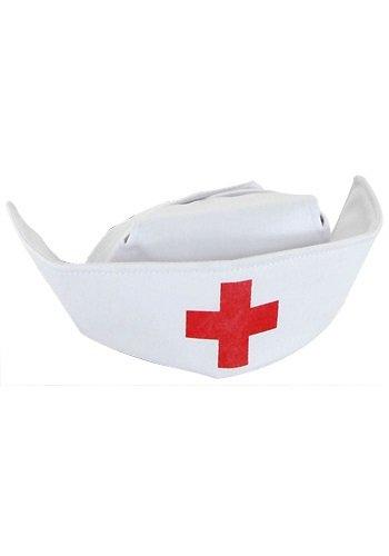 Mini Schwesternhaube Zubehör für Krankenschwester (Psycho Krankenschwester Kostüme)