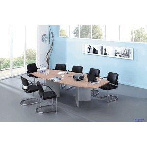 Konferenztisch mit Holzuntergestell 280x130/78cm Nussb.