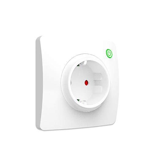 Smart Steckdose Unterputz, LYASI WLAN Steckdose Wand Kompatibel mit Alexa,Google Home und IFTTT,Fernsteuerung,Timing Funktion,Überlastungsschutz,16A Max