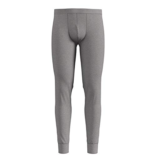 Odlo Herren SUW Bottom Pant Natural 100% Merino WARM Unterhose Grey Melange, XL