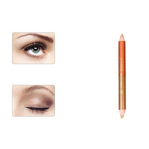 Momoxi Lidschatten,Augen Make-up Augenbrauenstift Doppelköpfiger Perlmutt-Lidschatten-Bleistift...