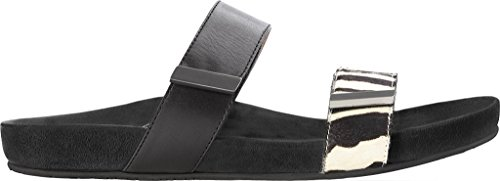 Vionic Womens Grace Jura Leather Sandals Black Zebra