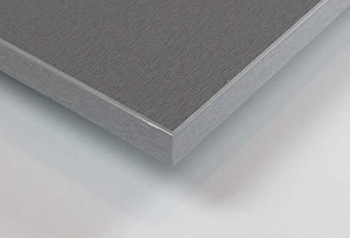 MySpiegel.de Tischplatte Holz Zuschnitt nach Maß Beschichtete Holzdekorplatte (120 x 70 cm, Alu Geschliffen)
