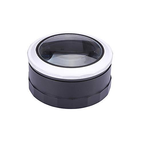 Unbekannt Handheld 5X mit LED-Lupe USB-Aufladung tragbare beleuchtete Zoom-Lupe 80mmK9 optisches Glas -