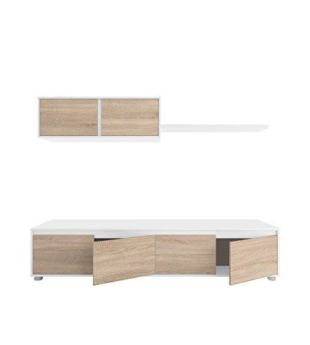 Habitdesign 0F6663A - Mueble de salón Moderno, modulos Comedor Alida, Acabado en...