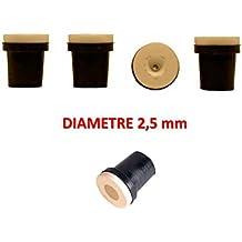 5 Juego de 4 conductos de cerámica negro-Pistola para chorreadora 38-76L 2,5 mm