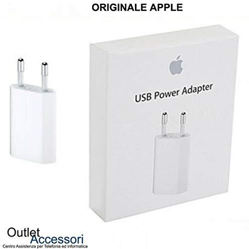 originale Caricatore Carica Batteria Alimentatore Compatibile per Apple Presa USB Power Adapter A1400 5W per iPhone 4 5 5s 5c 6 6s 7 Plus MD813ZM/A Confezio