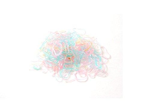 argummis, Polyurethan, Pastellfarben, 250 Stück (Haarspangen Für Dreads)