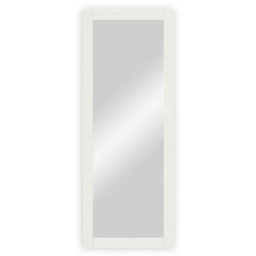 Wand-  Garderobenspiegel mit Holzrahmen, weiß lackiert - ca. 45 x 170 cm