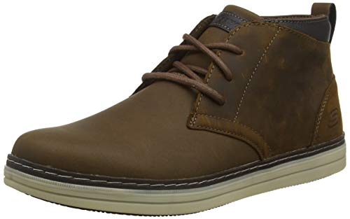 Skechers Heston-Regano, Botas Clasicas para Hombre, Marrón (Dark Brown Leather CDB), 42.5 EU