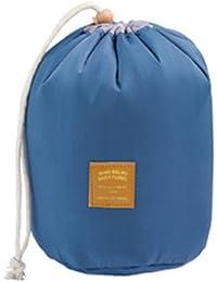 F9Q stockage portable Voyage sac cosmétique sac à main cylindrique Toiletry Makeup Bag