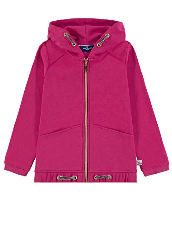 TOM TAILOR Kids Mädchen Sweatjacket Placed Print Sweatjacke, Rosa (Pink Peacock 2253), 116 (Herstellergröße: 116/122)