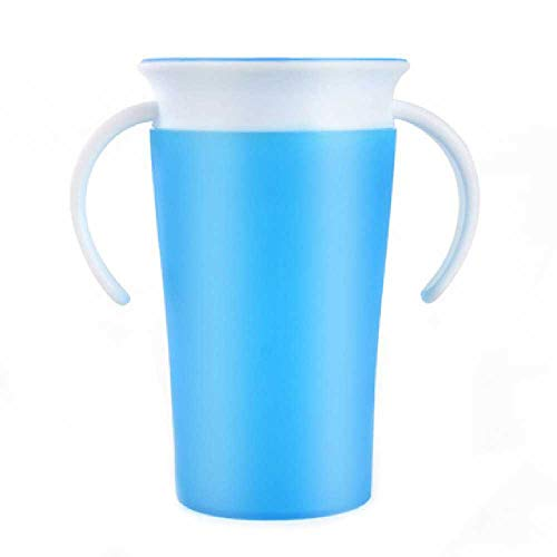 LIUGAOHUA LIUGAOHUA cup Safety Silicone Child Baby Learning Drinking Cup Student Baby Training Cup Magic Cup Azure Azure-cup