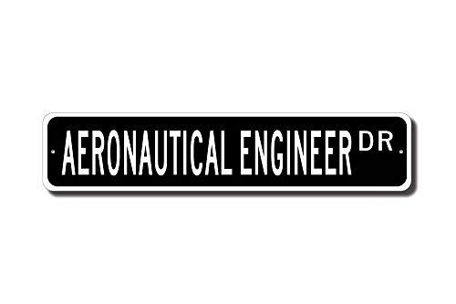 qidushop Aeronautical Ingeniero Señal de Ingeniería Aeronáutica de Ingeniería Cartel Calle Metal Signs para Mujer Novedad Lata Cartel Interior Exterior