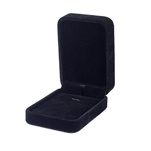 Le premium scatola regalo con confezione regalo/collana di gioielli in velluto lungo di alta qualità -nero