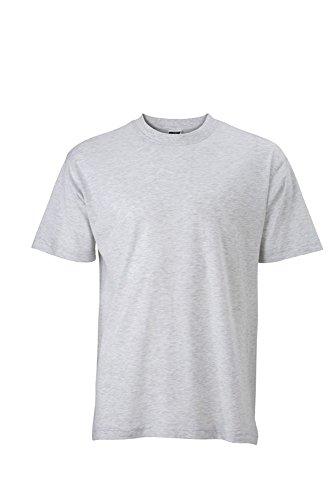 JN747 Basic-T T-Shirt aus Single-Jersey Greyheather
