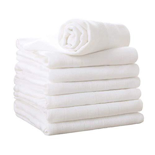 Mussola Neonati, Mussola Bambini 3 Strati di Cotone Biologico al 100%, Mussola Cotone e Asciugamano Cotone Bambino per Bambini e Mamme 5 Unità di YOOFOSS