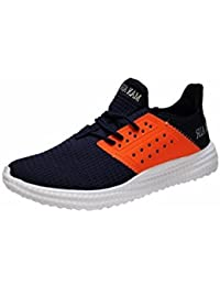 competitive price 51a75 99f29 MAX AIR Men s Navy Orange Sports Shoes - 10 M US