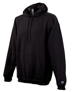 Champion Men's Double Dry Eco Pullover Hood nero Large