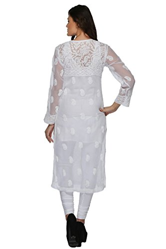 Lucknow-Chikan-Handmade-Womens-Ethnic-Wear-Faux-Georgette-Kurti-by-ADA-A158876