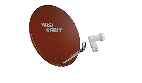 Wisi Satellitenschüssel Set Rotbraun 80 Cm Für 2 Elektronik